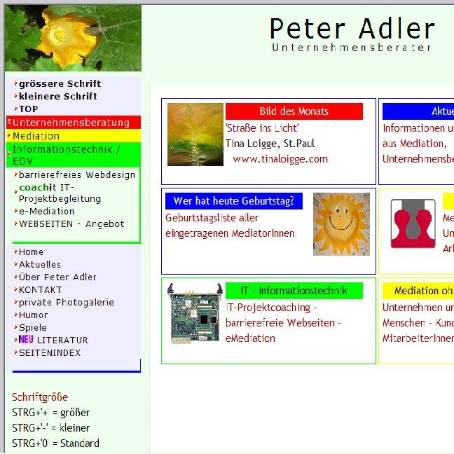 Bild einer Webseite